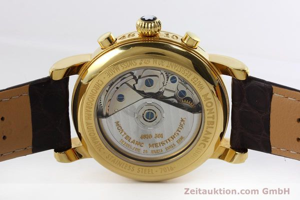 Used luxury watch Montblanc Meisterstück chronograph gold-plated automatic Kal. ETA 7750 Ref. 7016  | 152645 09