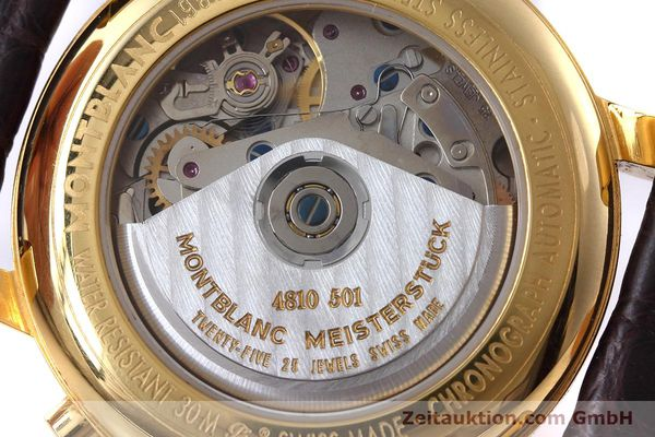 Used luxury watch Montblanc Meisterstück chronograph gold-plated automatic Kal. ETA 7750 Ref. 7016  | 152645 10