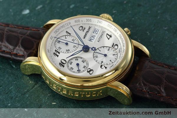 Used luxury watch Montblanc Meisterstück chronograph gold-plated automatic Kal. ETA 7750 Ref. 7016  | 152645 13