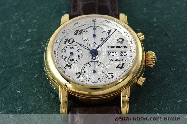 Used luxury watch Montblanc Meisterstück chronograph gold-plated automatic Kal. ETA 7750 Ref. 7016  | 152645 14