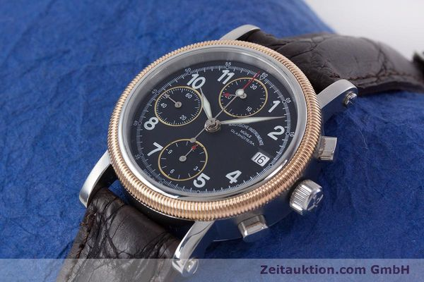Used luxury watch Mühle Chronograph II chronograph steel / gold automatic Kal. ETA 7750 Ref. M1-31-50  | 152649 01