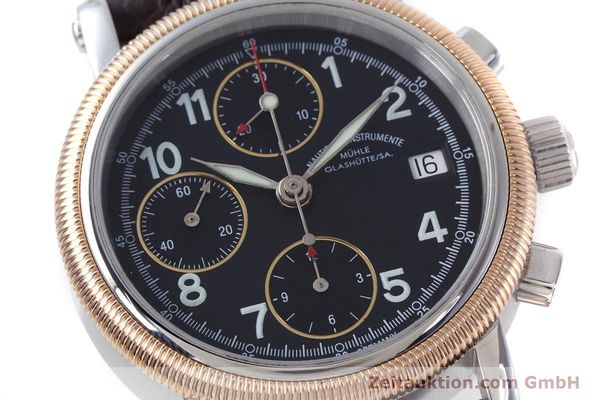 Used luxury watch Mühle Chronograph II chronograph steel / gold automatic Kal. ETA 7750 Ref. M1-31-50  | 152649 02