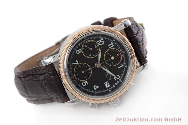 Used luxury watch Mühle Chronograph II chronograph steel / gold automatic Kal. ETA 7750 Ref. M1-31-50  | 152649 03