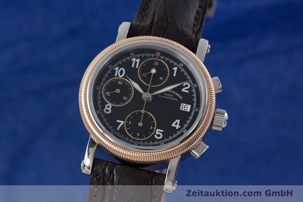 Used luxury watch Mühle Chronograph II chronograph steel / gold automatic Kal. ETA 7750 Ref. M1-31-50  | 152649 04