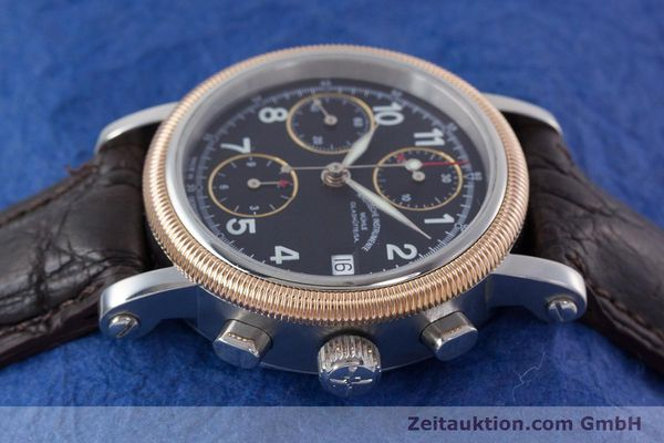 Used luxury watch Mühle Chronograph II chronograph steel / gold automatic Kal. ETA 7750 Ref. M1-31-50  | 152649 05