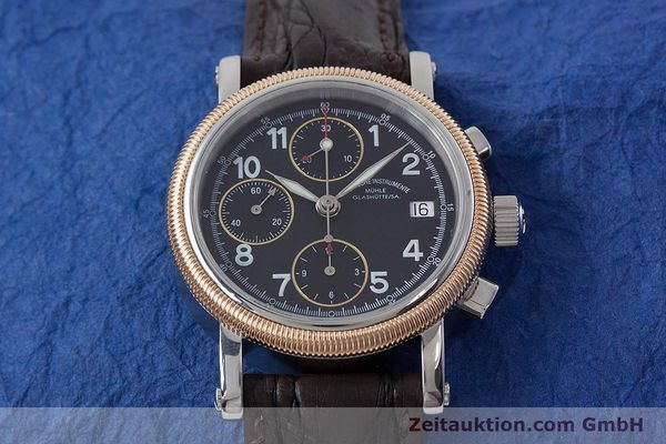 Used luxury watch Mühle Chronograph II chronograph steel / gold automatic Kal. ETA 7750 Ref. M1-31-50  | 152649 15