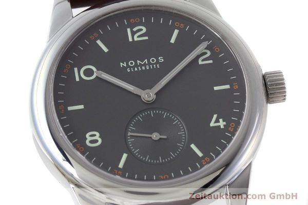 Used luxury watch Nomos Club steel manual winding Kal. Alpha  | 152650 02