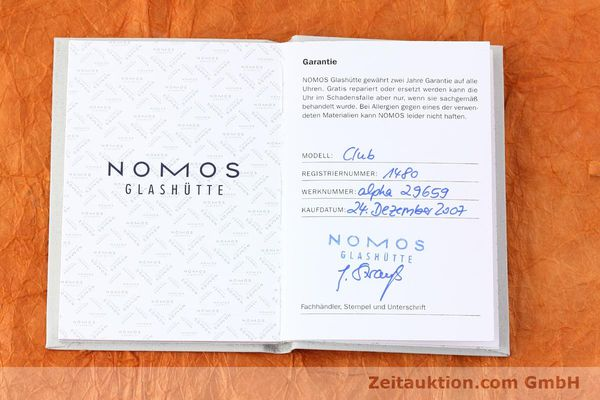 Used luxury watch Nomos Club steel manual winding Kal. Alpha  | 152650 08