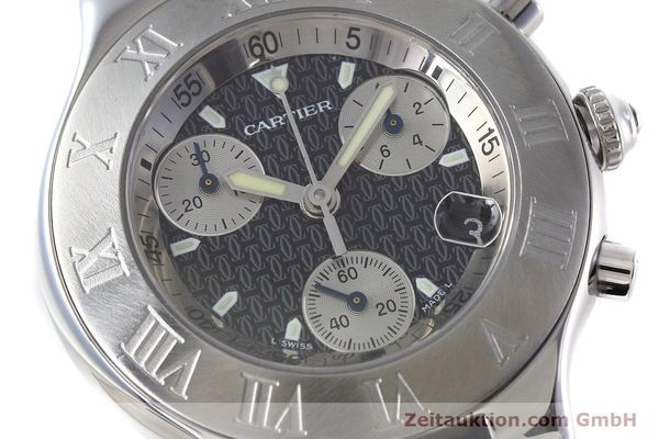 Used luxury watch Cartier Chronoscaph 21 chronograph steel quartz Kal. ETA 251.272 Ref. 2424  | 152652 02