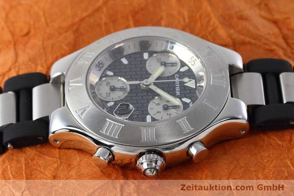 Used luxury watch Cartier Chronoscaph 21 chronograph steel quartz Kal. ETA 251.272 Ref. 2424  | 152652 05