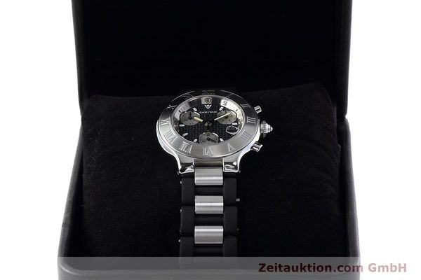Used luxury watch Cartier Chronoscaph 21 chronograph steel quartz Kal. ETA 251.272 Ref. 2424  | 152652 07