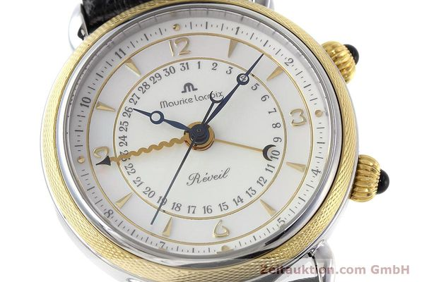 Used luxury watch Maurice Lacroix Reveil steel / gold manual winding Ref. 63511  | 152658 02