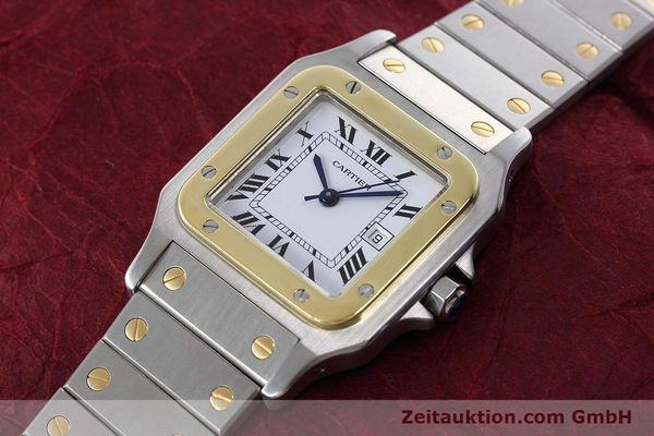 Used luxury watch Cartier Santos steel / gold automatic Kal. ETA 2671  | 152660 01