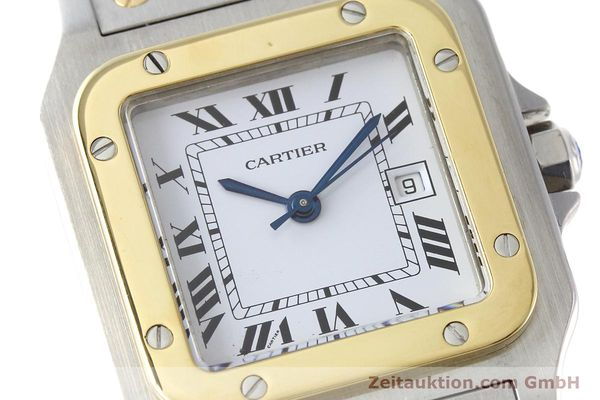 Used luxury watch Cartier Santos steel / gold automatic Kal. ETA 2671  | 152660 02