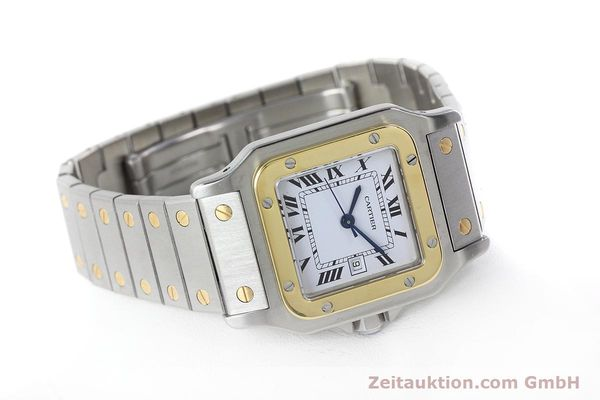 Used luxury watch Cartier Santos steel / gold automatic Kal. ETA 2671  | 152660 03