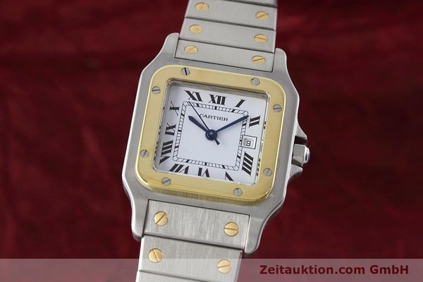 Used luxury watch Cartier Santos steel / gold automatic Kal. ETA 2671  | 152660 04