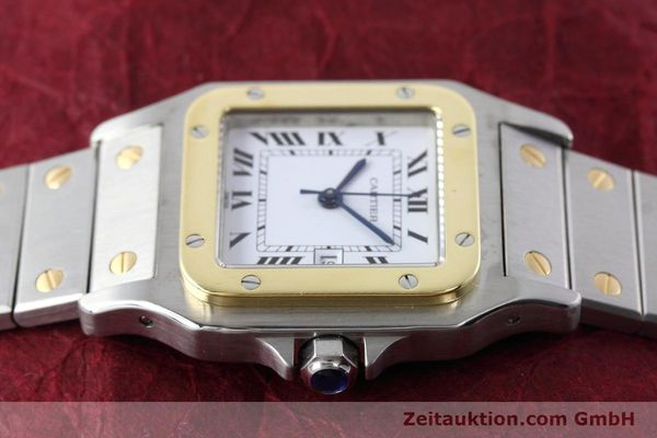 Used luxury watch Cartier Santos steel / gold automatic Kal. ETA 2671  | 152660 05