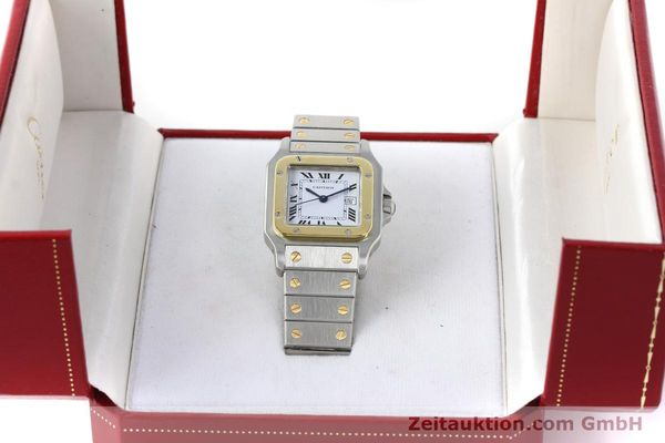 Used luxury watch Cartier Santos steel / gold automatic Kal. ETA 2671  | 152660 07