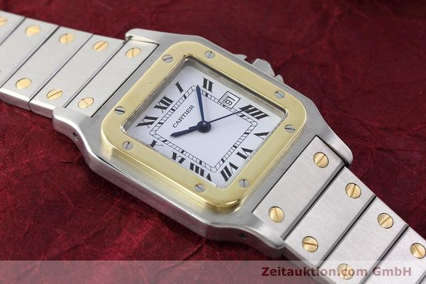 Used luxury watch Cartier Santos steel / gold automatic Kal. ETA 2671  | 152660 12