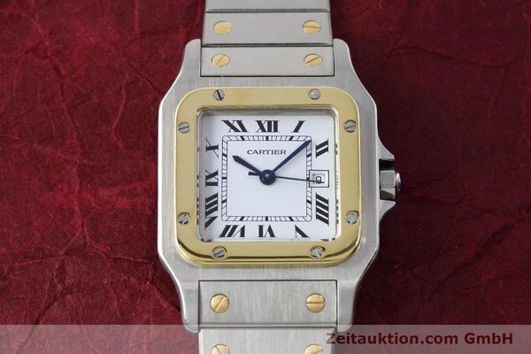Used luxury watch Cartier Santos steel / gold automatic Kal. ETA 2671  | 152660 13