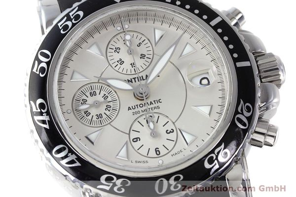 Used luxury watch Montblanc Sport Chronograph chronograph steel automatic Kal. 4810501 ETA 7750 Ref. 7034  | 152662 02