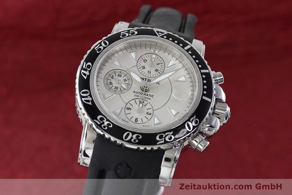 Used luxury watch Montblanc Sport Chronograph chronograph steel automatic Kal. 4810501 ETA 7750 Ref. 7034  | 152662 04