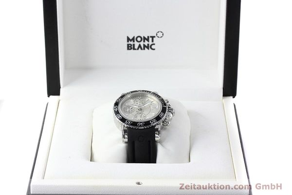 Used luxury watch Montblanc Sport Chronograph chronograph steel automatic Kal. 4810501 ETA 7750 Ref. 7034  | 152662 07