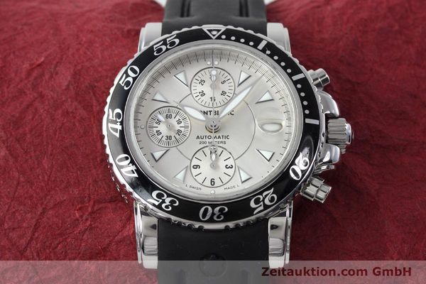 Used luxury watch Montblanc Sport Chronograph chronograph steel automatic Kal. 4810501 ETA 7750 Ref. 7034  | 152662 15