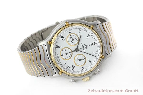 Used luxury watch Ebel 1911 chronograph steel / gold automatic Kal. 134 Ref. 1103  | 152663 03
