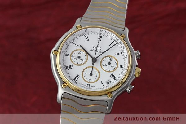 Used luxury watch Ebel 1911 chronograph steel / gold automatic Kal. 134 Ref. 1103  | 152663 04