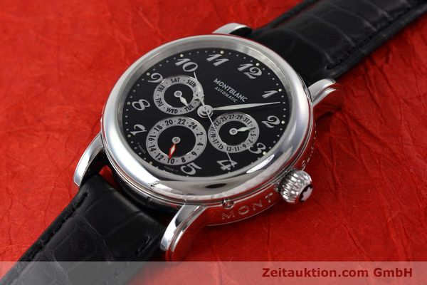 Used luxury watch Montblanc Meisterstück steel automatic Kal. 4810601 ETA 2892A2 Ref. 7018  | 152675 01
