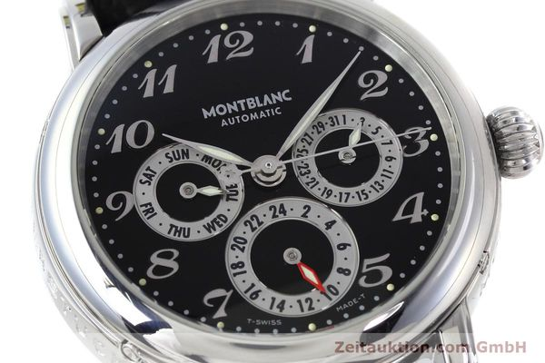 Used luxury watch Montblanc Meisterstück steel automatic Kal. 4810601 ETA 2892A2 Ref. 7018  | 152675 02