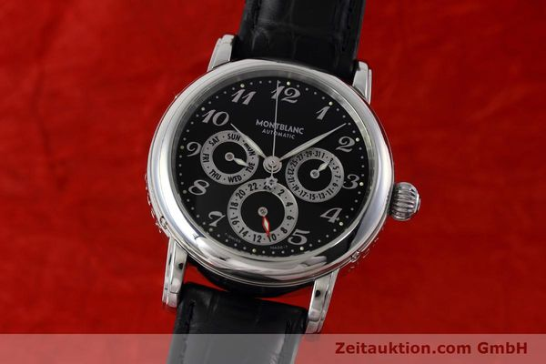 Used luxury watch Montblanc Meisterstück steel automatic Kal. 4810601 ETA 2892A2 Ref. 7018  | 152675 04