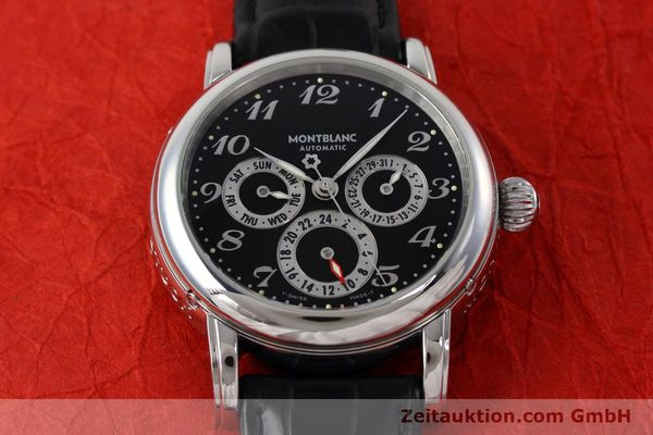 Used luxury watch Montblanc Meisterstück steel automatic Kal. 4810601 ETA 2892A2 Ref. 7018  | 152675 15