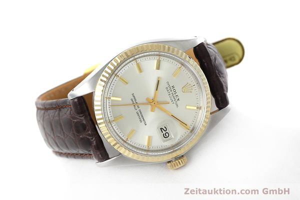 montre de luxe d occasion Rolex Datejust acier / or  automatique Kal. 1570 Ref. 1601  | 152681 03