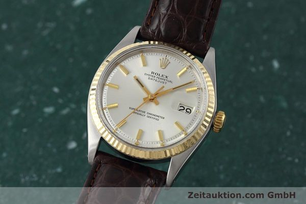 montre de luxe d occasion Rolex Datejust acier / or  automatique Kal. 1570 Ref. 1601  | 152681 04