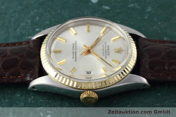 montre de luxe d occasion Rolex Datejust acier / or  automatique Kal. 1570 Ref. 1601  | 152681 05