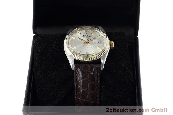 Used luxury watch Rolex Datejust steel / gold automatic Kal. 1570 Ref. 1601  | 152681 07