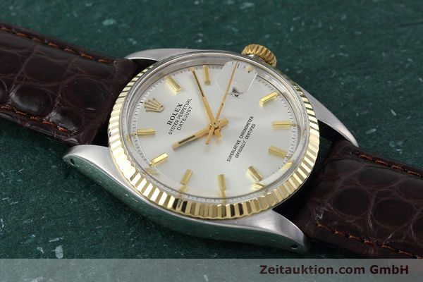 Used luxury watch Rolex Datejust steel / gold automatic Kal. 1570 Ref. 1601  | 152681 13