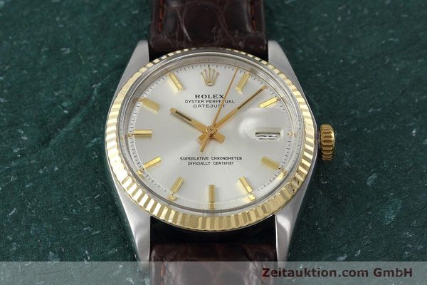 montre de luxe d occasion Rolex Datejust acier / or  automatique Kal. 1570 Ref. 1601  | 152681 14