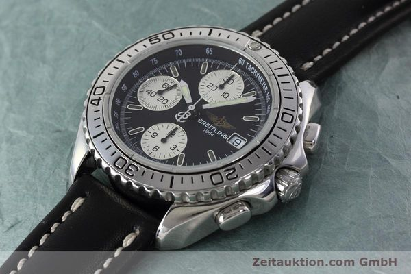 Used luxury watch Breitling Shark chronograph steel automatic Kal. B13 ETA 7750 Ref. A13051  | 152703 01