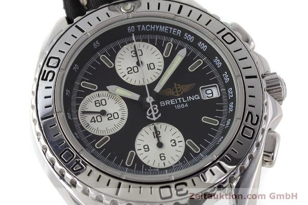Used luxury watch Breitling Shark chronograph steel automatic Kal. B13 ETA 7750 Ref. A13051  | 152703 02