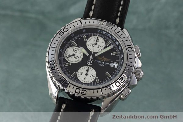 Used luxury watch Breitling Shark chronograph steel automatic Kal. B13 ETA 7750 Ref. A13051  | 152703 04
