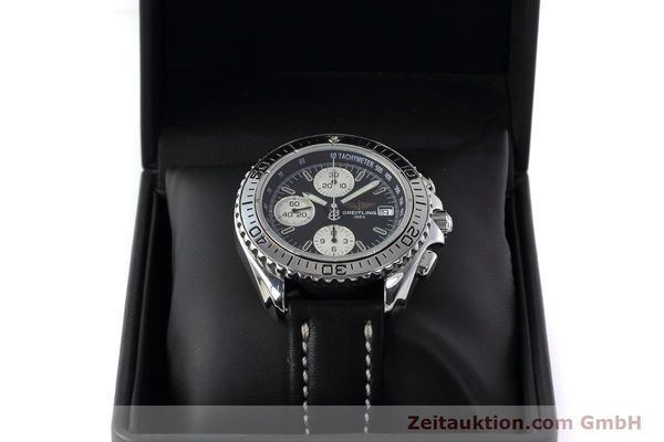 Used luxury watch Breitling Shark chronograph steel automatic Kal. B13 ETA 7750 Ref. A13051  | 152703 07