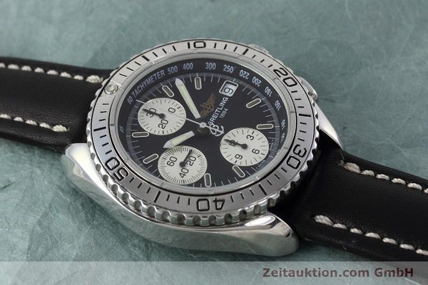 Used luxury watch Breitling Shark chronograph steel automatic Kal. B13 ETA 7750 Ref. A13051  | 152703 12