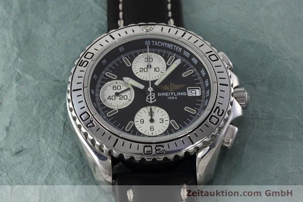 Used luxury watch Breitling Shark chronograph steel automatic Kal. B13 ETA 7750 Ref. A13051  | 152703 13
