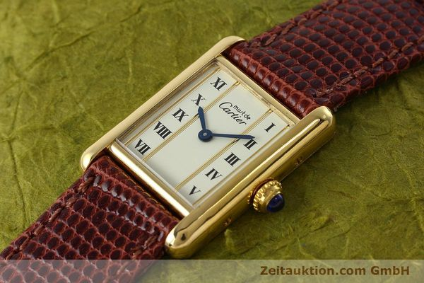 Used luxury watch Cartier Tank silver-gilt quartz Kal. 057  | 152705 01