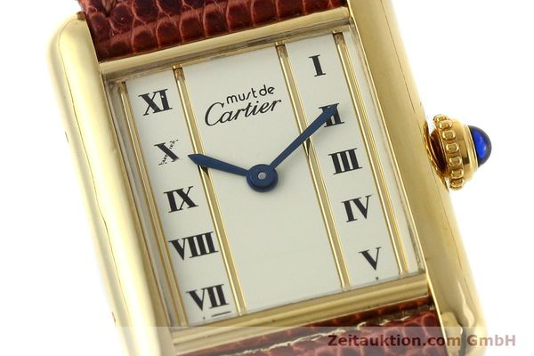 Used luxury watch Cartier Tank silver-gilt quartz Kal. 057  | 152705 02