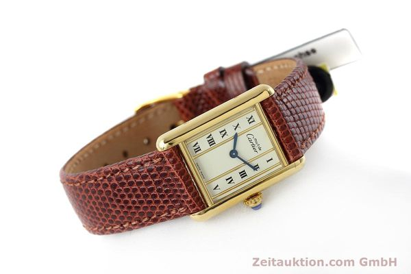 Used luxury watch Cartier Tank silver-gilt quartz Kal. 057  | 152705 03
