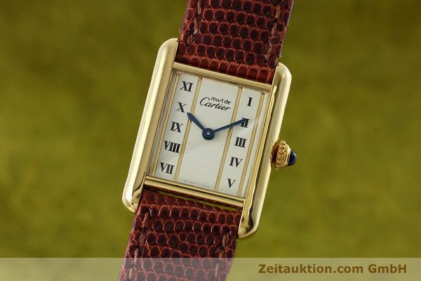 Used luxury watch Cartier Tank silver-gilt quartz Kal. 057  | 152705 04
